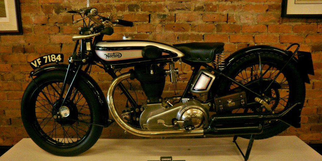 20 of the most stunning #bikes in the #Motorcycle Mecca Museum in New Zealand |  4. Norton 1929. You probably wouldn&#39;t get far on this tank, but while you were waiting for backup, you could pass the time by honking that cool looking horn, I guess. <br>http://pic.twitter.com/cdU2Tz2gZL