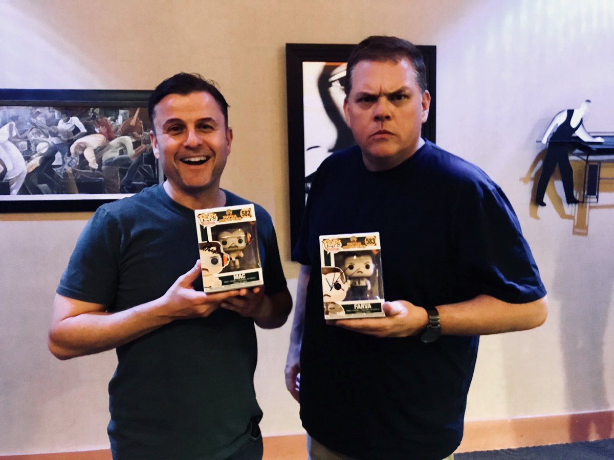 Shenanigans! @SteveLemme and @HeffernanRules are hanging out with Pop! Mac and Farva!