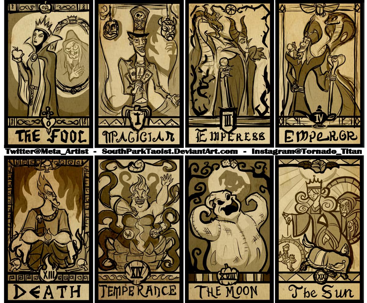 Work in progress of my Disney Villain tarot deck  Tweet