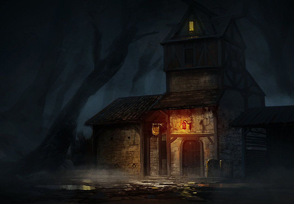 The old inn sat lonely on the edge of the dark moor....