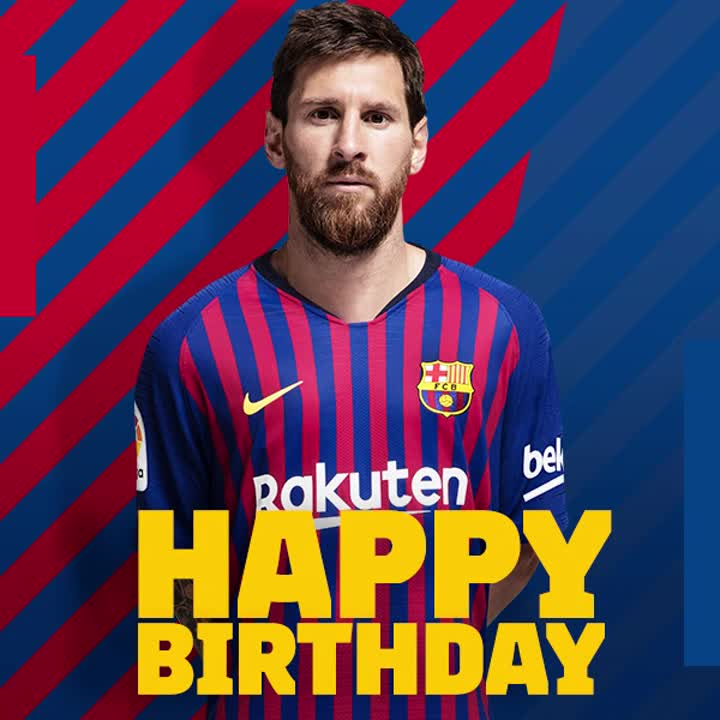 A special day for a special player! 🎉 Happy birthday, Leo #Messi 🎂