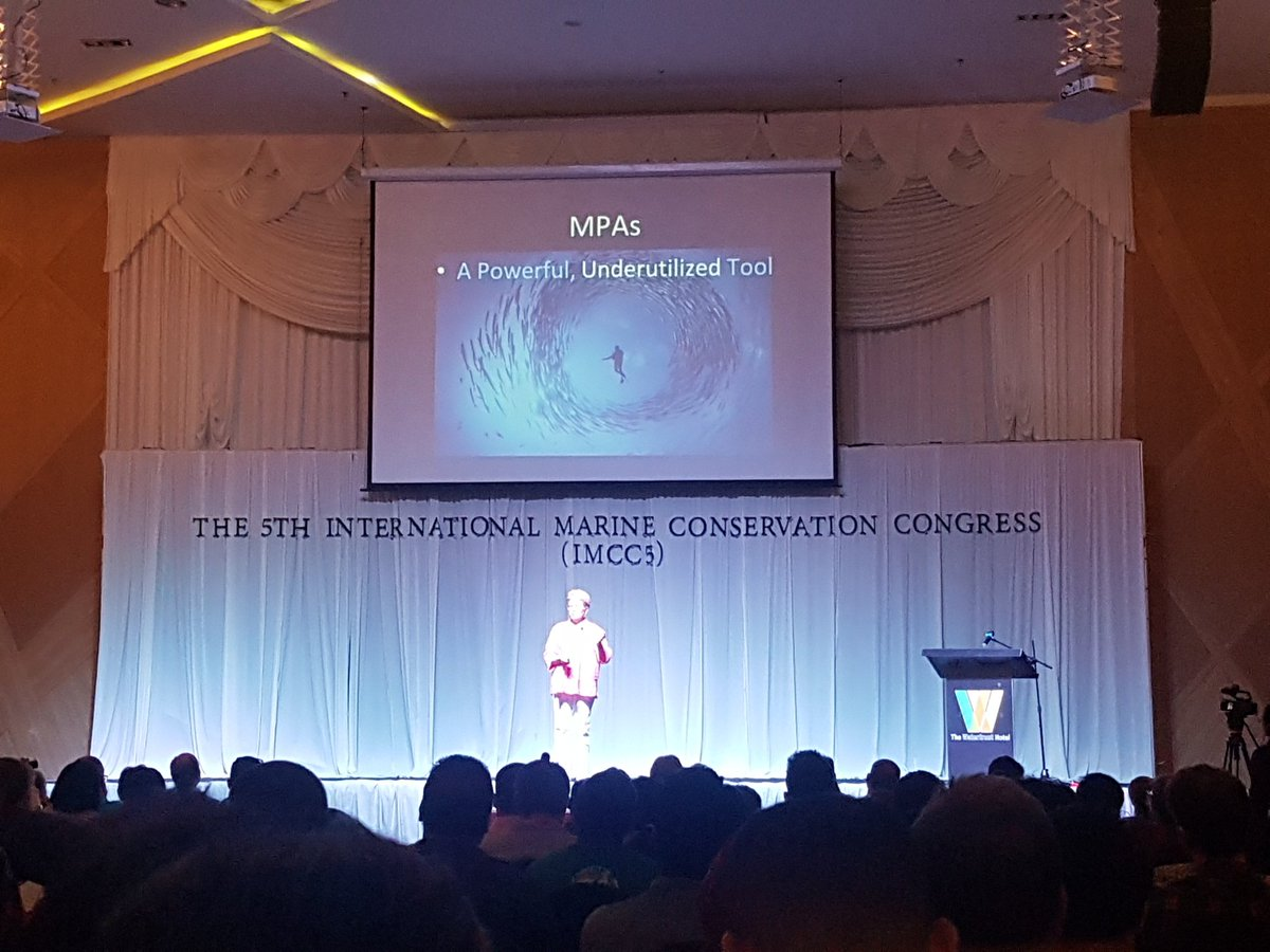MPAs are a powerful, underutilised tool. But what makes an #MPA &#39;protected&#39; ? Rush to create more has resulted in challenges and misunderstandings - this is getting in the way of much needed progress @JaneLubchenco making waves at #IMCC5 @IMCC2018<br>http://pic.twitter.com/ru40f20GPC