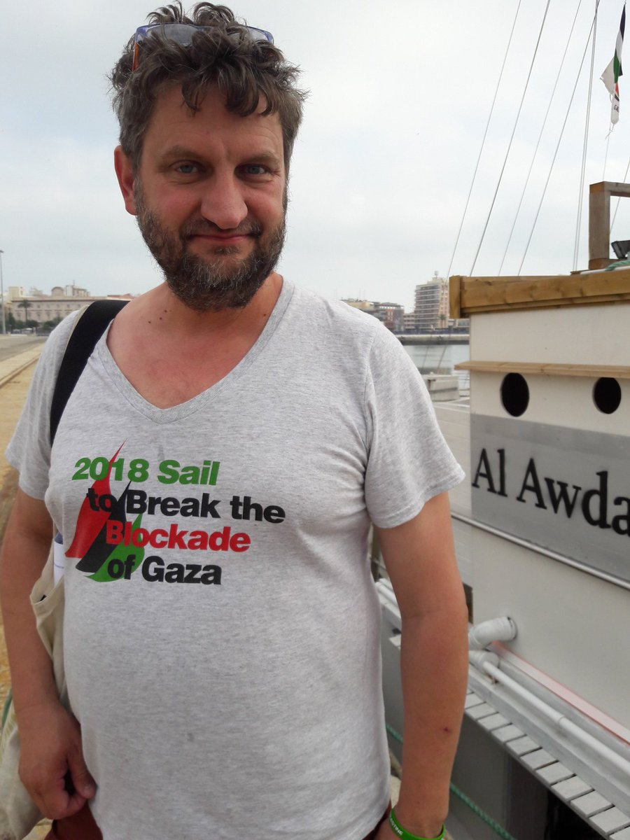 Good morning, Cadiz. Now we, Ship to Gaza/@GazaFFlotilla, are in your port on our way to break the blockade of Gaza for a just future for Palestine. Please join and enjoy the events here with us and take the chance to show your support @CanadaBoatGaza @DavidHeap @rumboagaza<br>http://pic.twitter.com/8NlqeSZNAE