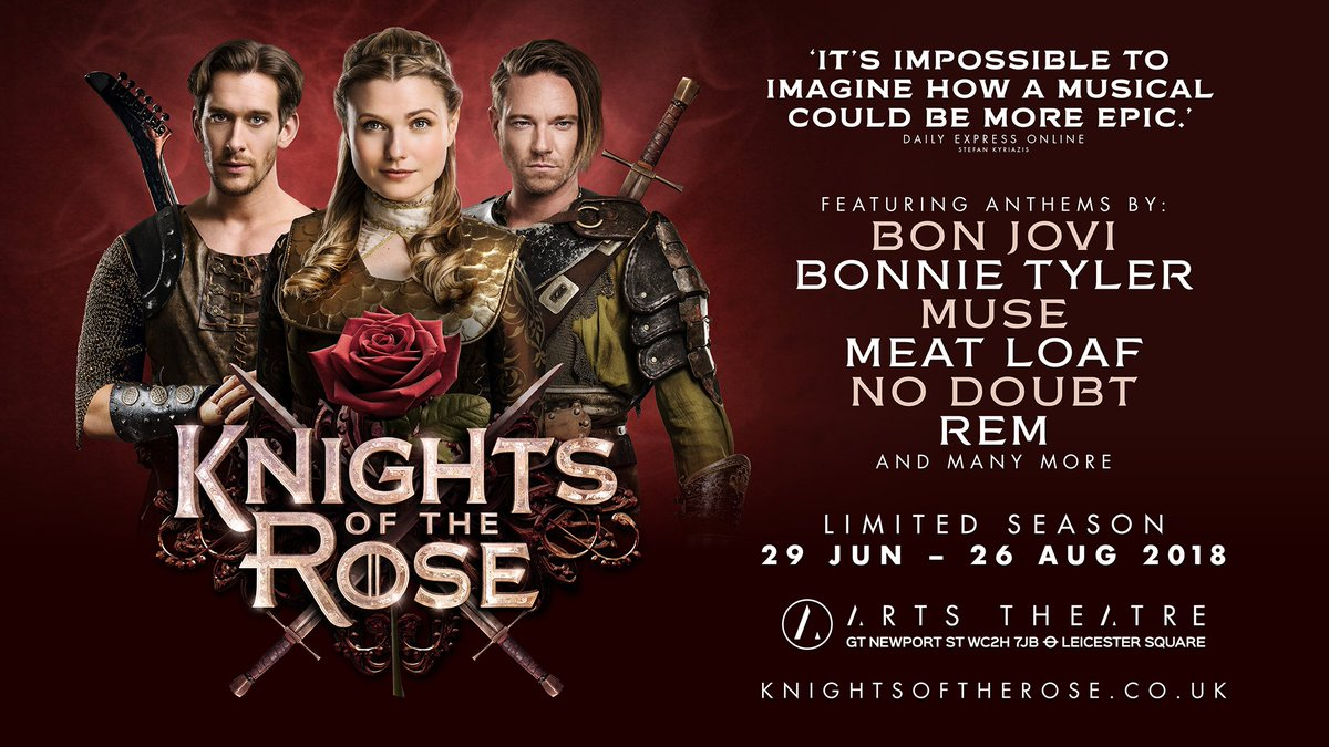 Secure your seat for the #WestEnd&#39;s hottest new show today! Book at  http://www. knightsoftherose.co.uk  &nbsp;   #KnightsOfTheRose<br>http://pic.twitter.com/vdxuSU5gmJ