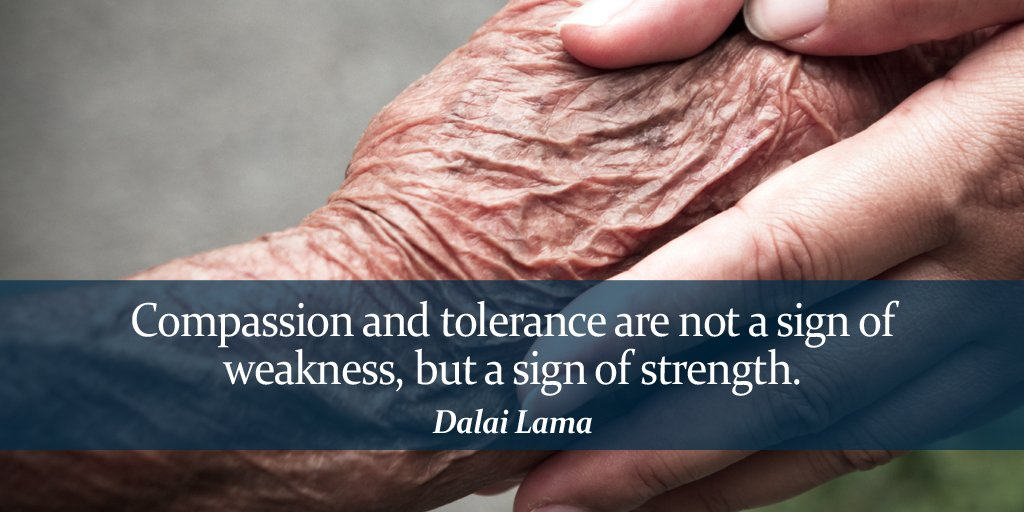 Compassion and tolerance are not a sign of weakness, but a sign of strength. - Dalai Lama #quote<br>http://pic.twitter.com/eMCBXmUCjz