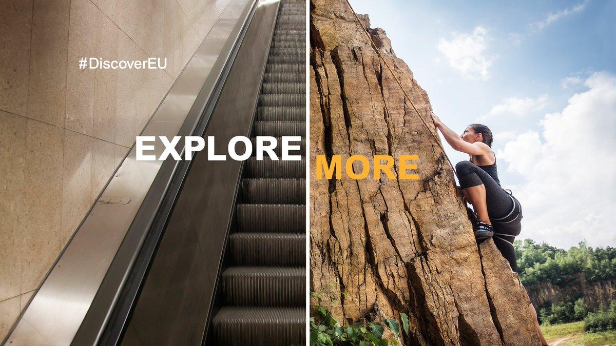Há mais mundos para além do teu mundo. 🗺 Se tens 18 anos e és cidadão europeu, candidata-te a um dos 15.000 passes de #interrail que temos para de oferecer. Junta-te a nós e vem explorar a Europa este verão! 🚄 🇪🇺 #DiscoverEU 👉 https://t.co/pgQtx7jPle