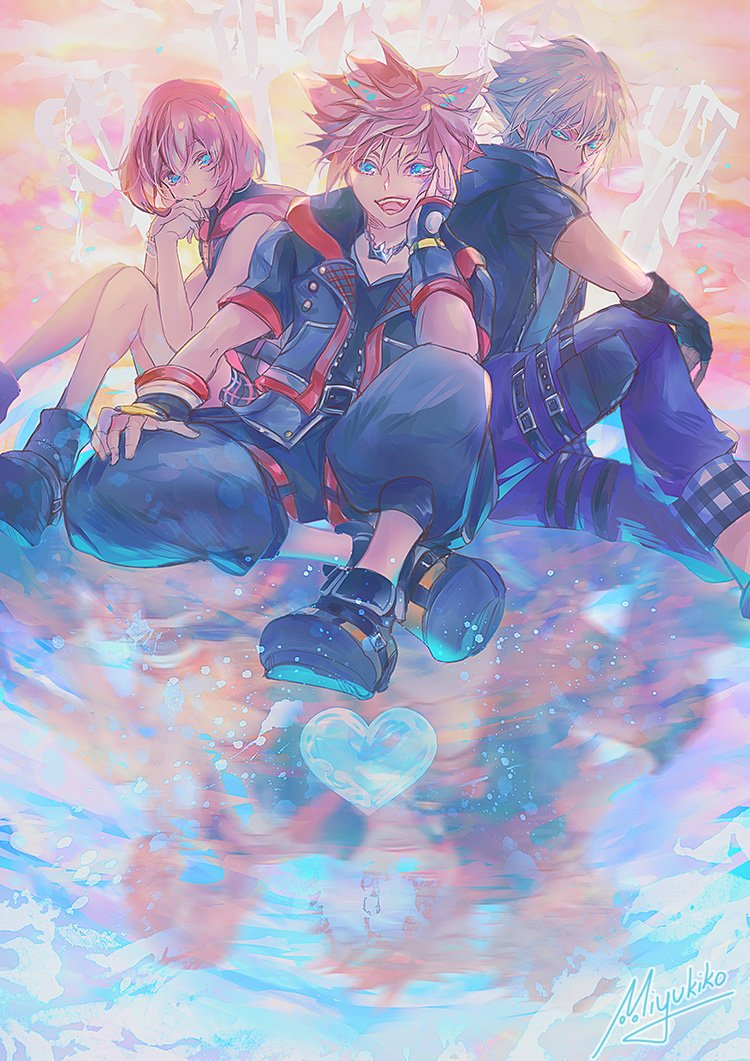 [KH] Destiny trio ♡! It&#39;s been 10 years since i last drew Kingdom Hearts... <br>http://pic.twitter.com/vZaP9sSNk1