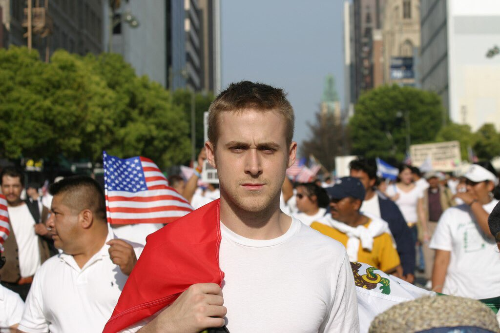 #trowback 📸 Ryan Gosling I L.A. Immigration Rally