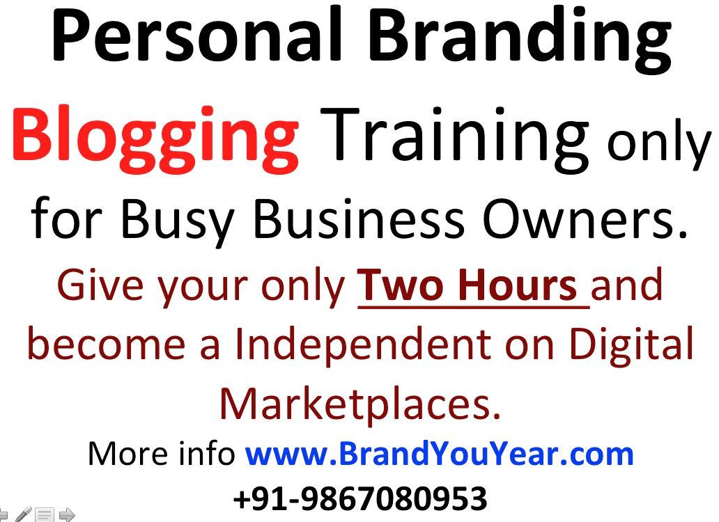 #PersonalBranding Training for Busy #BusinessOwners. #DigitalBanegaIndia   http://www. BrandYouYear.com  &nbsp;  <br>http://pic.twitter.com/1if7nLBnsK