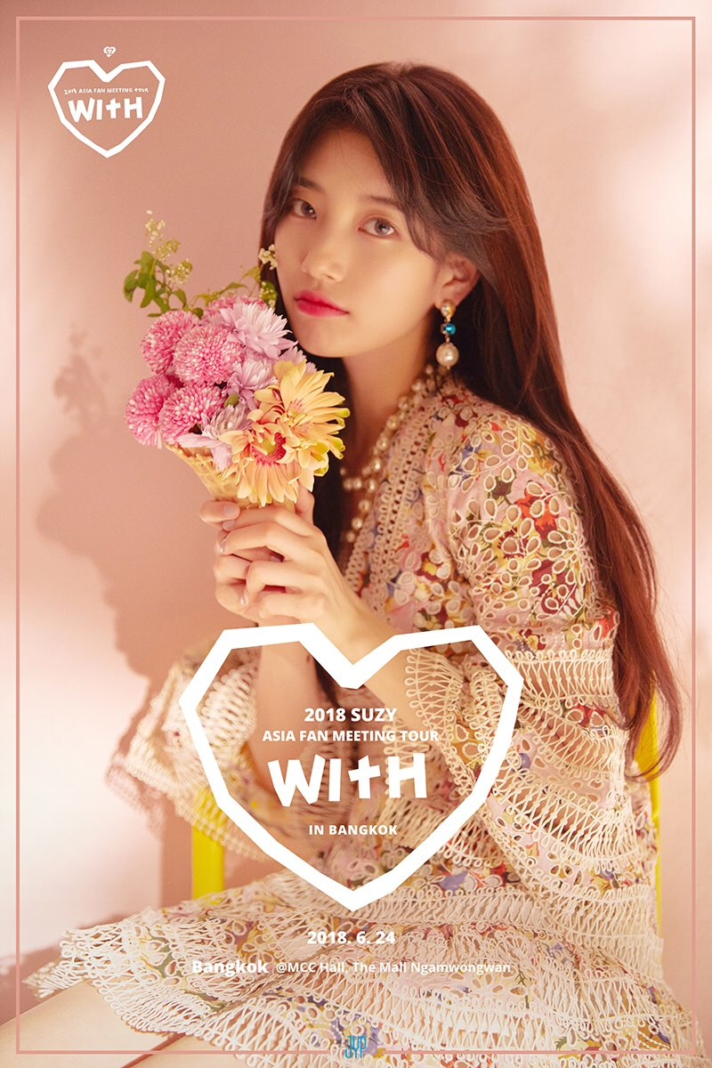 SUZY 2018 Asia Fan Meeting Tour &#39;WITH&#39; In Bangkok  TODAY!!! 4PM(Local Time) @ MCC Hall, The Mall Ngamwongwan  #SUZY #WITH #FANMEETING<br>http://pic.twitter.com/WWNWDcEI6P