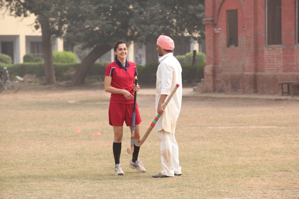 test Twitter Media - The first day of shoot.... the first scene for me in the film... the first time I played hockey.... and the first time got to hear such a beautiful composition..... #IshqDiBaajiyaan  Come in theatres on 13th July to watch the magic unfold on big screen ! #Soorma https://t.co/fDF784Owmp