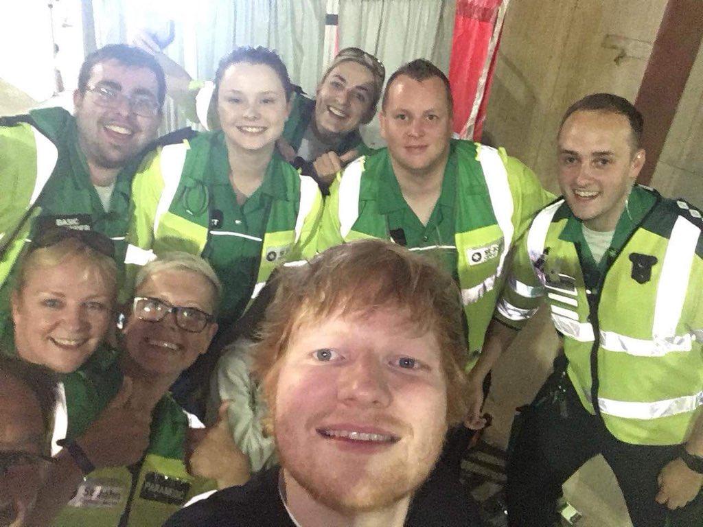 Ed sheeran selfie