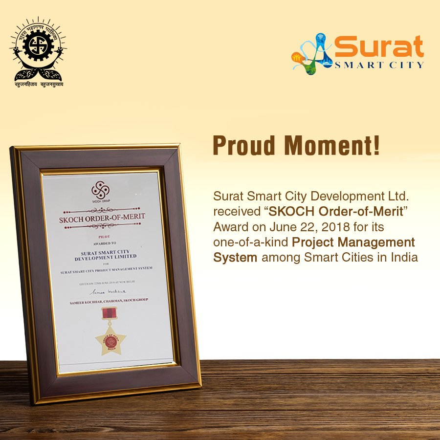 Surat Smart City Development Ltd. (SSCDL) has developed an online platform called &quot;Project Management System (PMS)&quot; to monitor, record and update all details of smart city projects anytime anywhere #MySurat #SuratSmartCity @skochgroup<br>http://pic.twitter.com/UuIxxHI7Cy