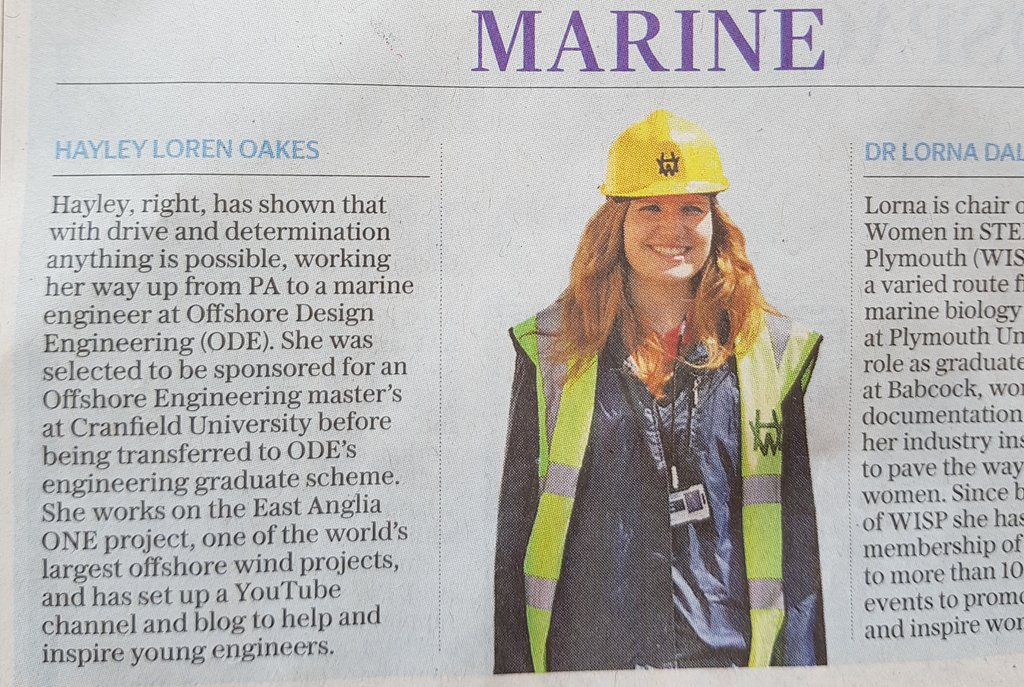 So excited to be named as one of the @Telegraph top 50 women in engineering, alongside so many other incredible women!!  I made a quick vid on transferring into engineering to show there&#39;s so many options! #WE50 #INWED18  https:// youtu.be/YHeocnNloHA  &nbsp;  <br>http://pic.twitter.com/1gLnwXAJKf