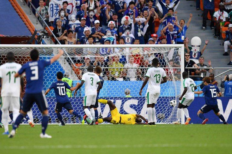 شاهد | اليابان يسجل هدف التعادل في مرمى السنغال