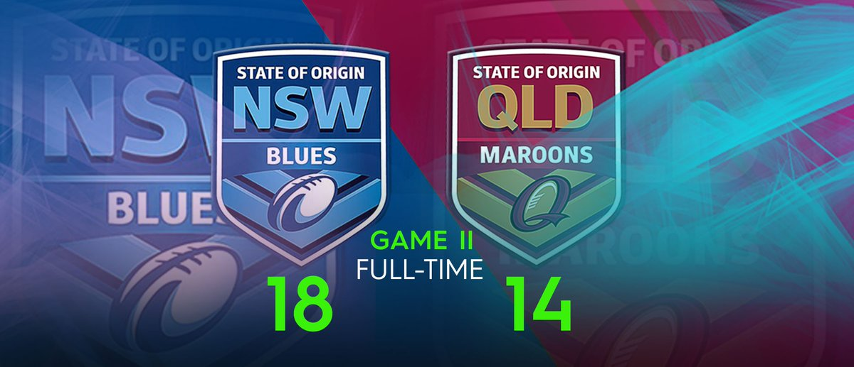 BLUES WIN THE SERIES!  A gutsy performance in Game II delivers the 2018 State of #Origin shield back to New South Wales.   https:// bit.ly/2KlwXGA  &nbsp;  <br>http://pic.twitter.com/W3BC5XzURl