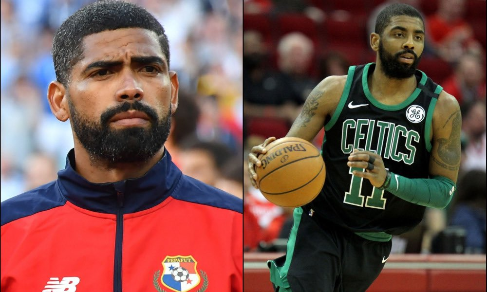 I knew Kyrie Irving was talented, but to play for Panama and the Celtics is impressive. Bo and Deion did football and baseball. MJ did basketball and baseball, but Kyrie does World Cup soccer too! <br>http://pic.twitter.com/hWhSEL7j1S