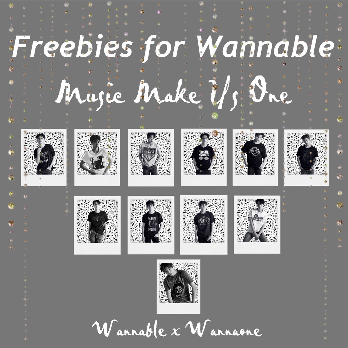 [ HELP RT ] - - ♪♪MUSIC MAKE US ONE ♪♪                       WannaOne × Wannable ~ ~   HERE ARE THE FREEBIES FOR WANNABLES <br>http://pic.twitter.com/kQRFA1e4Ti