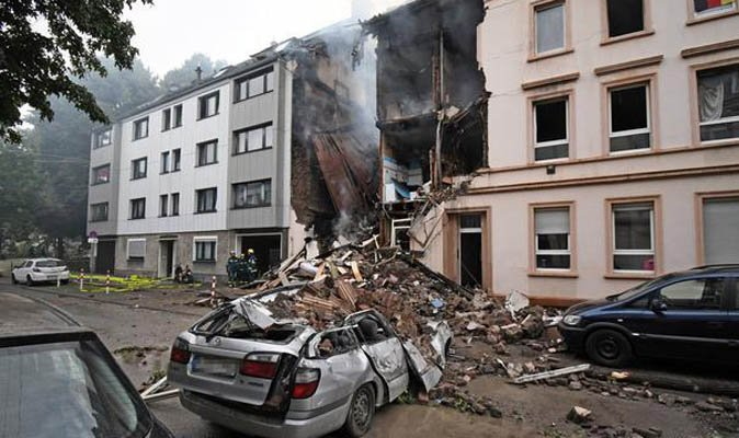 GERMANY EXPLOSION: Firefighters are still trying to tackle the fire after 25 people were left injured in explosion  https://t.co/fgZaQOYNw1