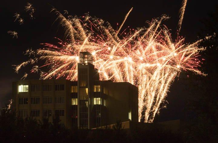 今年最初の打ち上げ花火