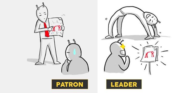 La différence entre un patron et un leader à travers 8 illustrations créatives - https://t.co/AoQvDFF3CA