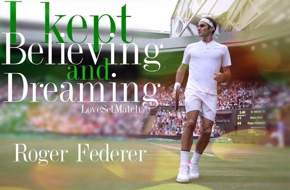 Rest well @rogerfederer thanks for such a great Halle Tournament and although we all wish you could have won today I am so proud to be your fan! I keep believing and dreaming with you and will see you at Wimbledon ! Thanks FedFam! <br>http://pic.twitter.com/1Tgq2xbInF