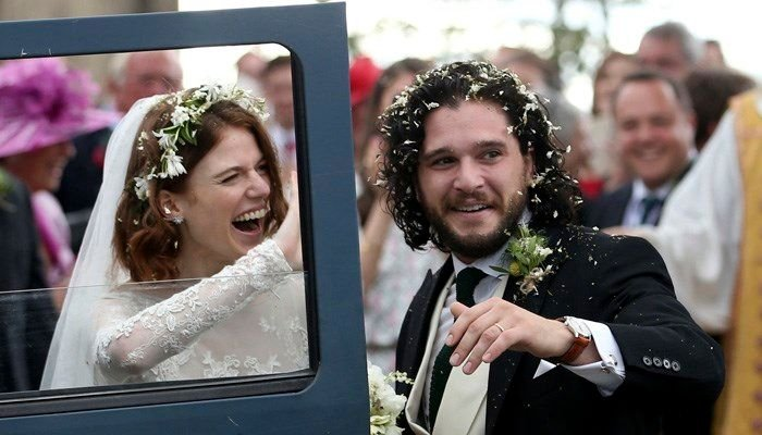 'Game of Thrones' co-stars Kit Harington, Rose Leslie wed https://t.co/Ow2A1lSWnf