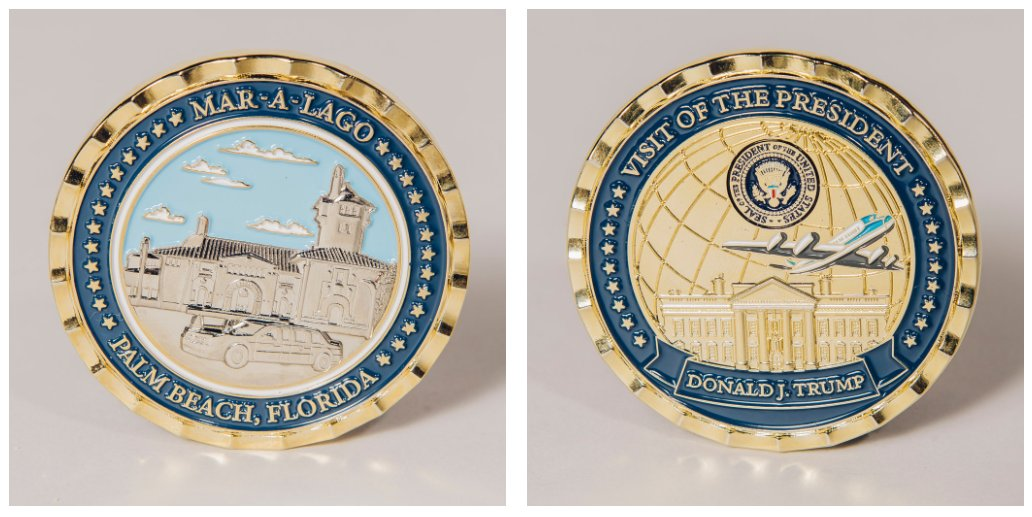 NEW: The White House Communications Agency team that made the TRUMP-KIM JONG-UN coins also made coins with Mar-a-Lago on one side &  sea@POTUSl, WH & AF1 on the other. They scrapped plans for a Trump Tower/Bedminster coin when we started asking questions. https://t.co/jCXlZFsNPG
