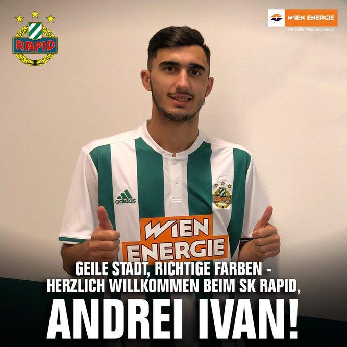 Andrei Ivan als Neuverpflichtung für die Offensive bei SK Rapid Wien
