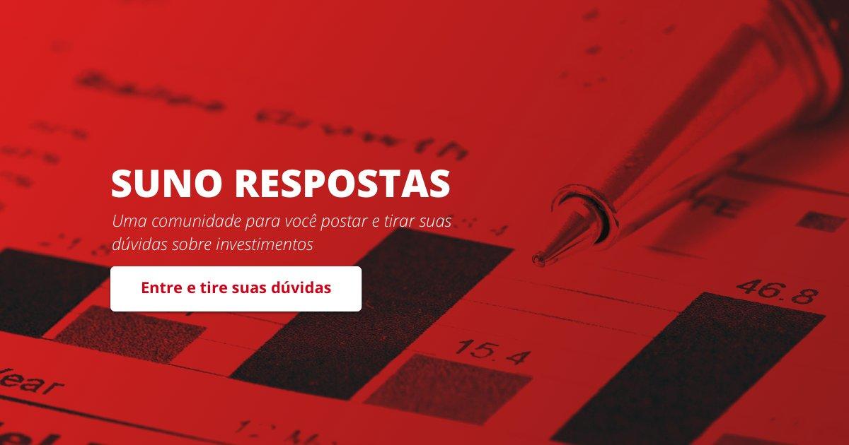 A Suno montou o melhor lugar para debater e tirar dúvidas sobre investimentos do Brasil, o Suno Respostas. Se cadastre e interaja. Faça suas perguntas ou compartilhe seu conhecimento. https://t.co/lziwuj0sO6