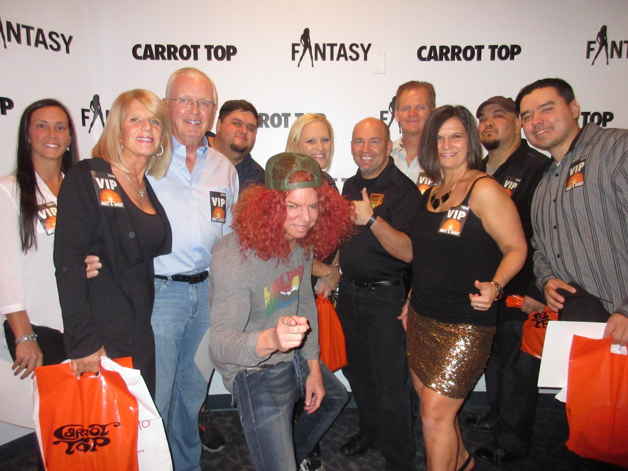 Carrot top on twitter bring your sundayfunday to the luxorlv for carrot top on twitter bring your sundayfunday to the luxorlv for the ctmeetngreet vip meetandgreet passes available at the box office or m4hsunfo