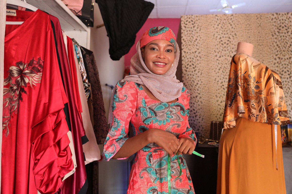 'My name is Binta. I am the owner of Favorite Fashion @bintaberry. I've always loved fashion designing so I went to Abuja to enroll in a fashion school. I returned to my hometown to start my business. There are many designers in Abuja. Maiduguri needs this. People need me here' <br>http://pic.twitter.com/FtlNGymn3G