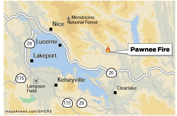 Th #PawneeFiree  in Lake County, which forced evacuations of about 3000 residents, has damaged or destroyed as many as 15 structures. Some 600 structures were threatenehttps://t.co/2ErLAX2cuwd.