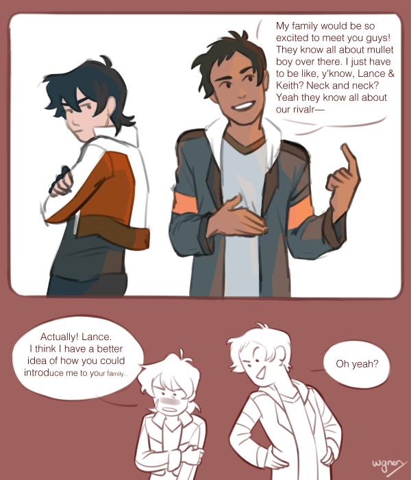 i got really desperate about linking two unrelated drawings together and ended up with this hot mess please just take it  #klance #voltron #vld