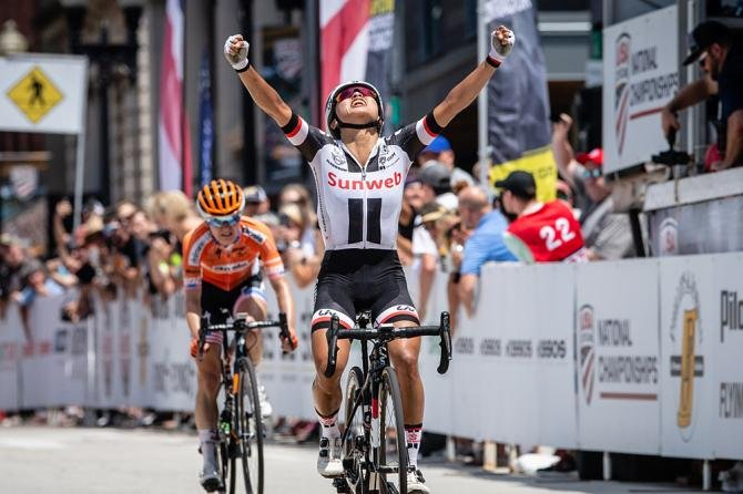 Rivera wins stars-and-stripes jersey at US Pro Road Championships   Full results and report via @Pat_Malach, and images via @photogjono   https://t.co/JWze6tBncm