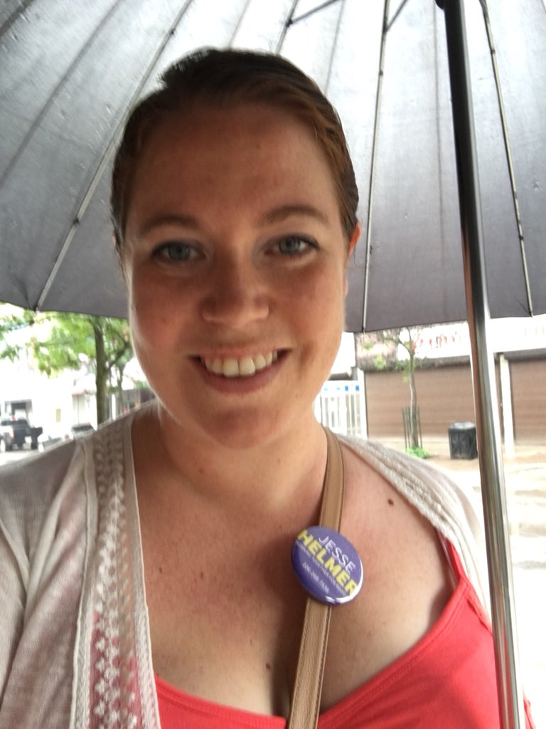 Just got off the bus on this rainy day - on route to show @jesse_helmer support at his re-election campaign launch. #ward4 #Ldnont<br>http://pic.twitter.com/lOjtUJmh7f
