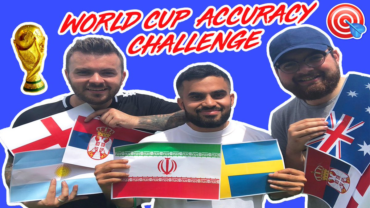 NEW VIDEO: WORLD CUP ACCURACY CHALLENGE   WATCH:  https:// youtu.be/dSJbt0_8tFY  &nbsp;    SUBSCRIBE:  http:// youtube.com/sofasundays  &nbsp;    RT RT RT!!<br>http://pic.twitter.com/yiUAGpN6Ny