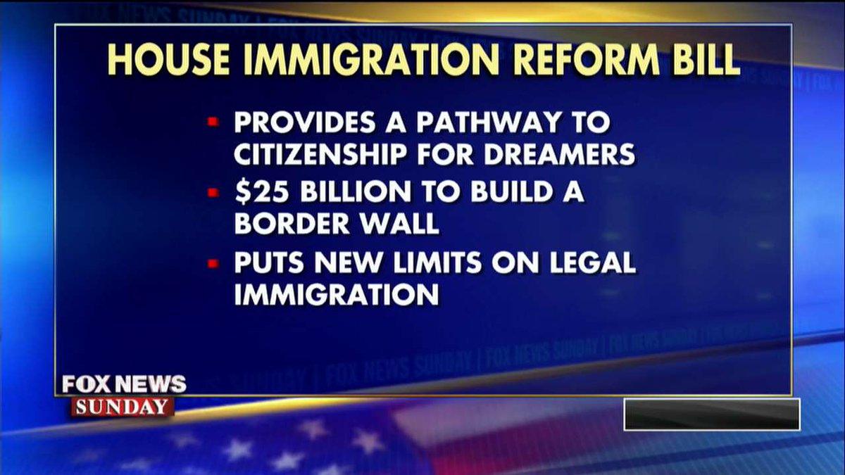 House immigration reform bill. #FoxNewsSunday