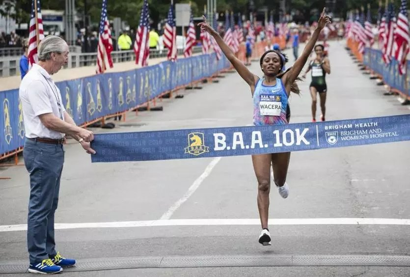 A brisk morning concluded with the crowning of a new men's elite field champion, while a former women's champion reclaimed the title Sunday at the eighth annual Boston Athletic Association 10K race. https://t.co/3iAO1V094S