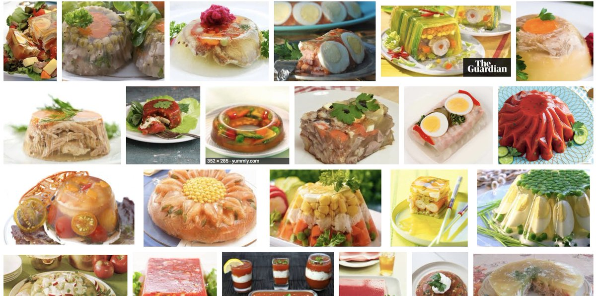 Accidentally did a google images search instead of a text search for 'aspic' and now I'm not hungry.  ...note, that's not a tech acronym. :)