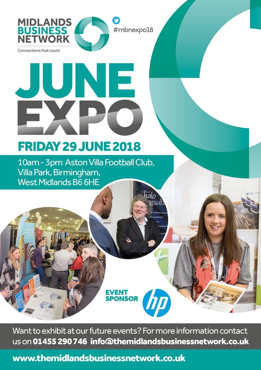 The biggest B2B expo in the Midlands! Join us this Friday for the #MBNEXPO18. 120 exhibitors, 1,000 visitors + 5 business seminars. It&#39;s FREE to attend  http:// goo.gl/vxCYZ6  &nbsp;   #BrumHour<br>http://pic.twitter.com/5cAOORpBvp