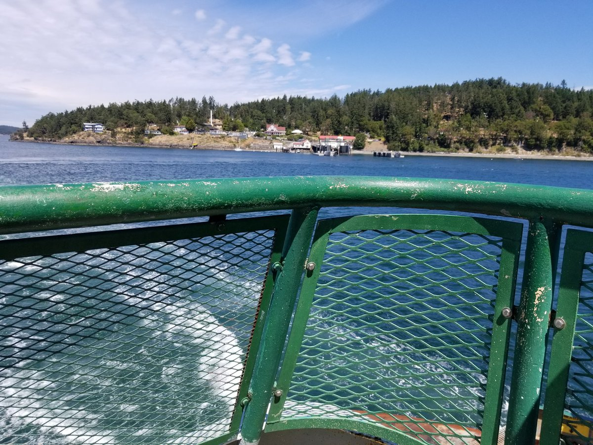 On the Orcas Island ferry, recreating the opening of What Remains of Edith Finch