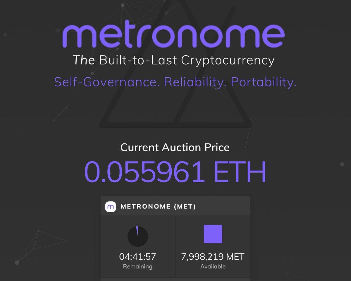 metronome cryptocurrency price