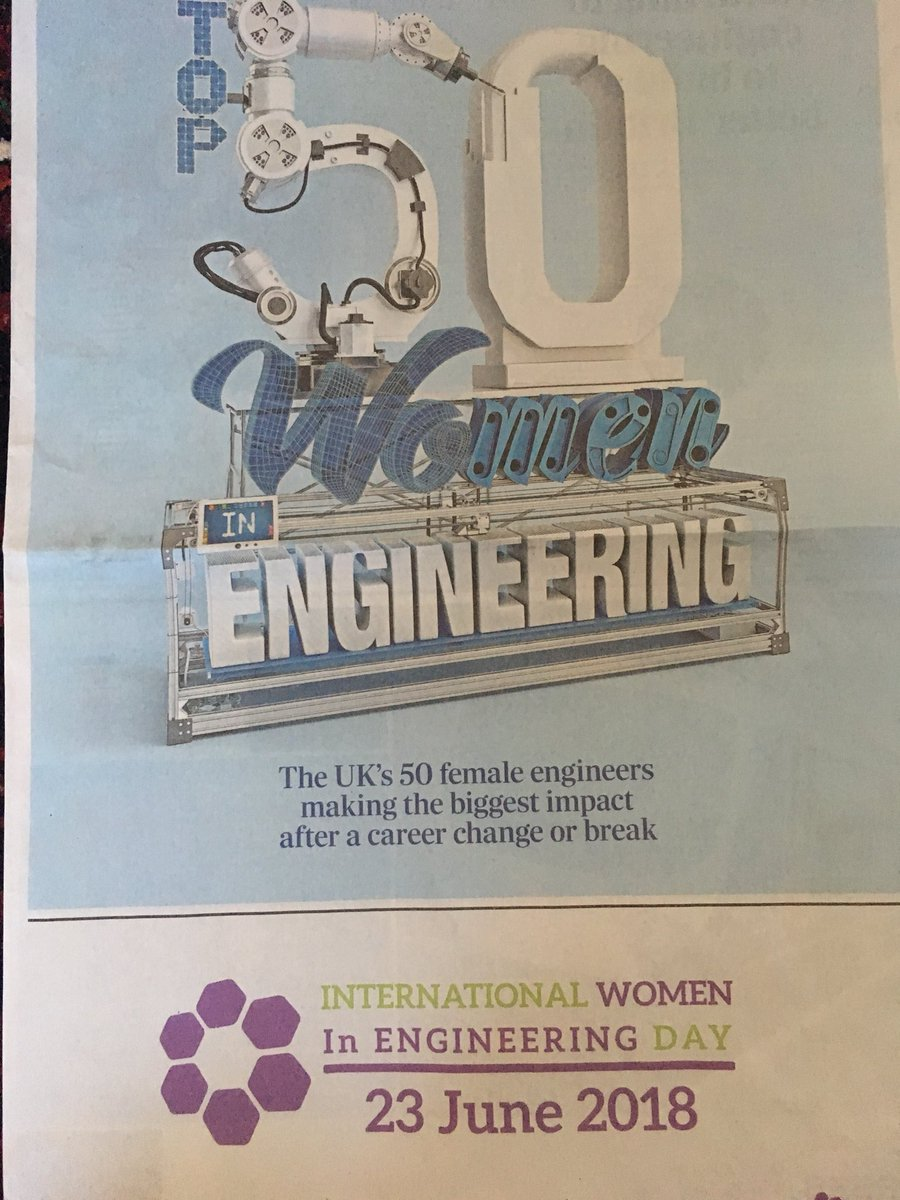 So thrilled to feature in @WES1919 #WE50 Top 50 Women in Engineering in @Telegraph alongside some amazing #WomenInSTEM returners &amp; transferrers. Thanks for the support &amp; inspiration @GlosSTEM @esu_o @Osprey_CSL @IETFaraday #INWED2018 #RaisingTheBar<br>http://pic.twitter.com/FrPHMPCk0J