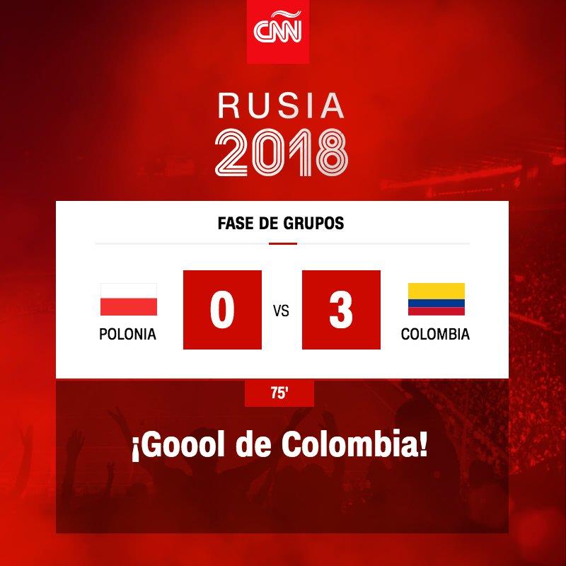 Llega el tercero para Colombia, Cuadrado anota al 75: https://t.co/Dwvwyh2AhL #Rusia2018 https://t.co/9bHQRaoW1n