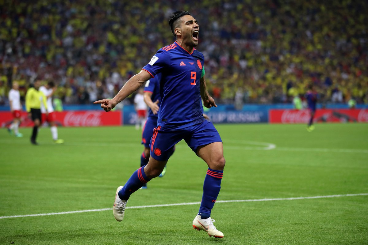 Falcao has now scored in: ☑️ Argentine Primera División ☑️ Primeira Liga ☑️ Premier League ☑️ La Liga ☑️ Ligue 1 ☑️ Europa League ☑️ Champions League ☑️ Copa America ☑️ #WorldCup His first goal on the worlds biggest stage. 🌎