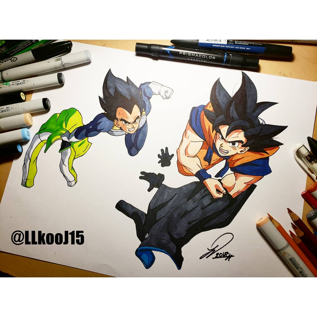 All done  Gokuand vegeta  Felt good busting out the markers again . Definitely gonna buy some more colors and keep up on my traditional work . Are y&#39;all excited for the new movie? #dbz #drawing #goku #vegeta #traditionalart #dragonballsuper<br>http://pic.twitter.com/7xonYqssEO