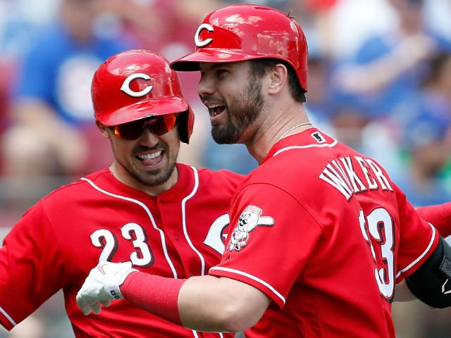 Angels in the outfield? Suddenly unbeatable Reds score seven in the seventh, sweep Cubs with   seventh straight win.  http:// bit.ly/2Khvjpi  &nbsp;  <br>http://pic.twitter.com/QhDn5akBsO