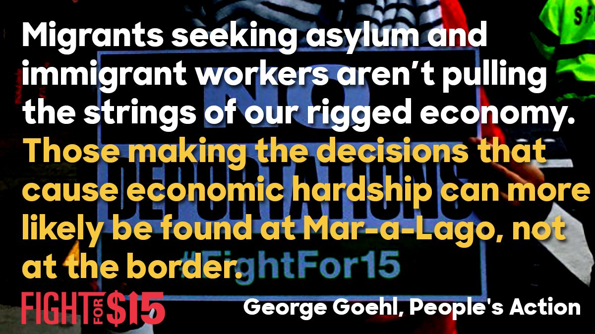 Billionaire bosses and global corporations, not immigrants, are the ones rigging the economy for working people  http:// bit.ly/2M8s7JG  &nbsp;   #FightFor15 <br>http://pic.twitter.com/jgRYBXJTZl