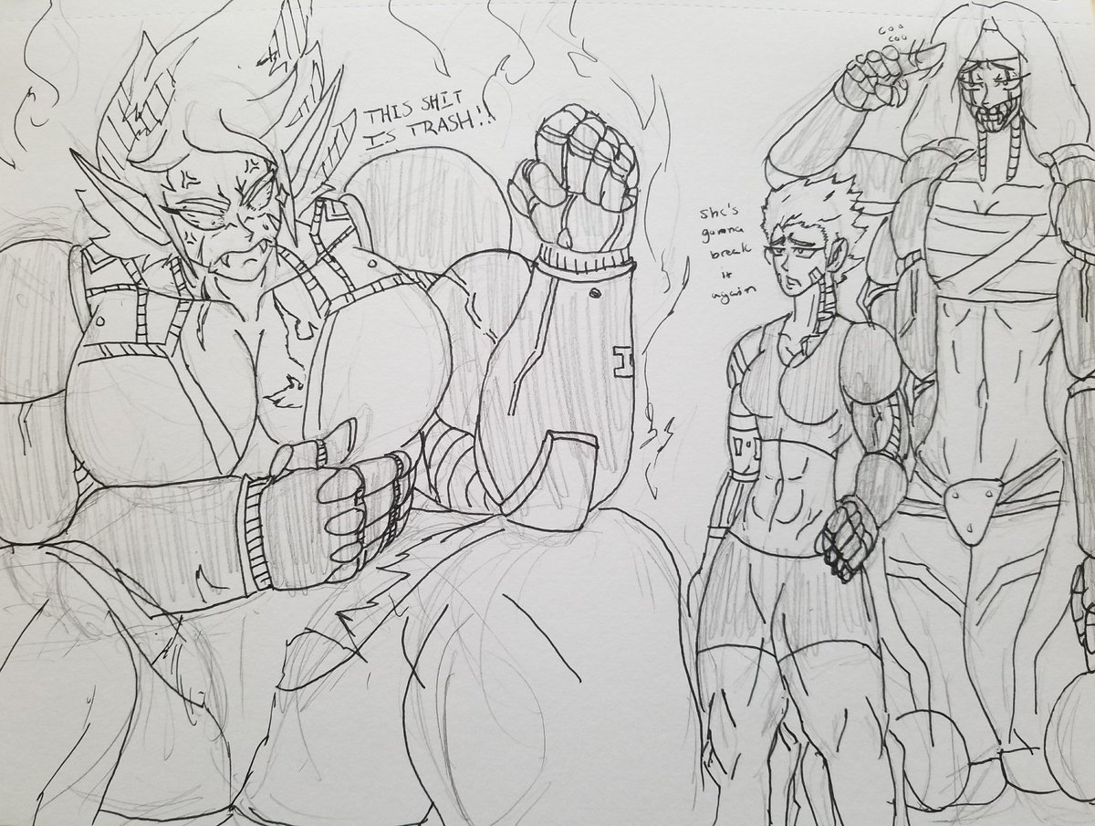 Unfortunately the girls arms are under high maintenance(I&#39;m taking my sweet time designing them) and have to wear their carbon fiber prosthetics for awhile everyone seems to be taking it well except for Hercules but she&#39;ll get over it...hopefully <br>http://pic.twitter.com/XuHdXNVYOq